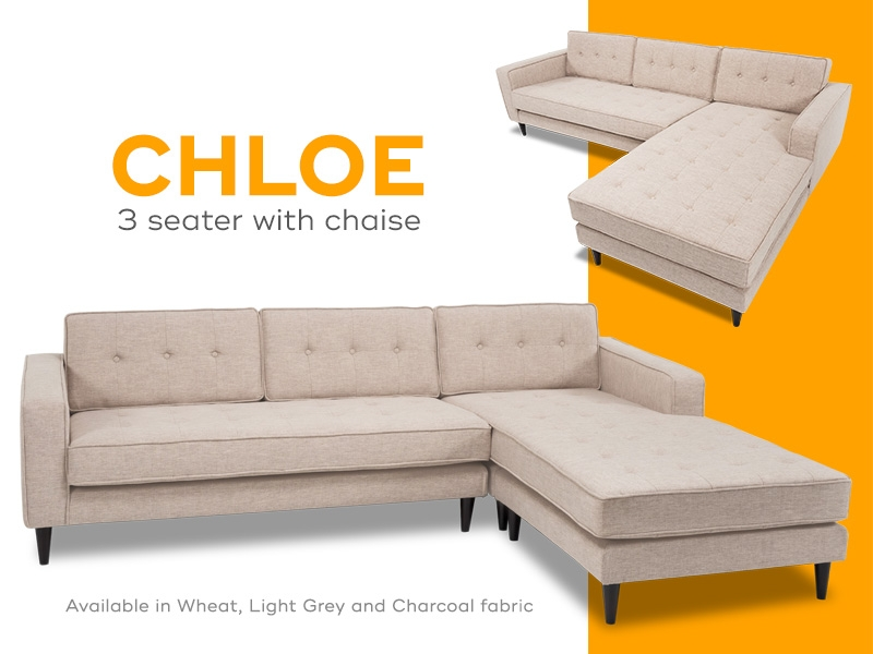 Chloe Chaise in Wheat