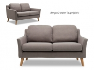 Bergen 2 Seater Sofa in Taupe (product thumbnail)
