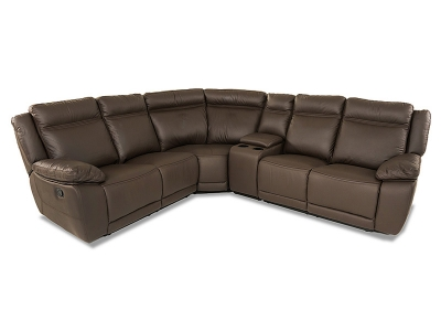 Ashton Leather Modular in Dark Brown