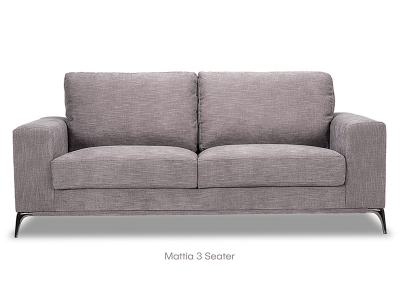 Mattia 3 Seater in Grey